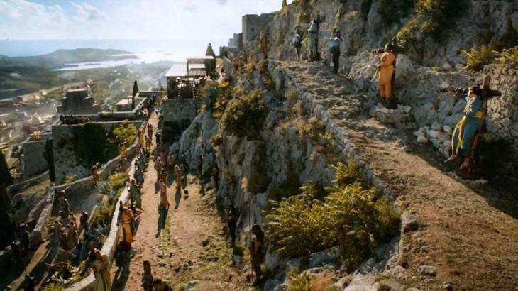 escena donde se ven algunos personajes de Game Of Thrones