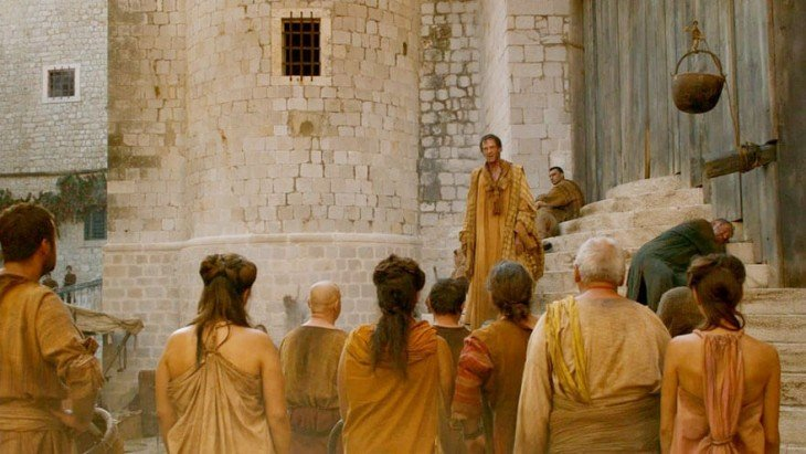 escena de la serie de HBO Game Of Thrones