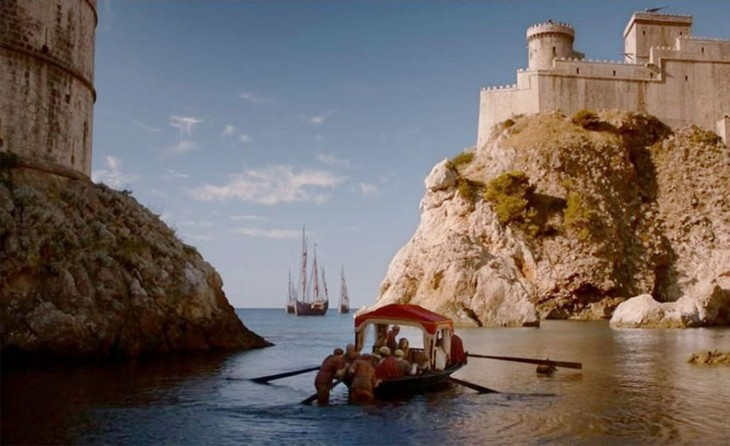 escena en una lancha de Game Of Thrones