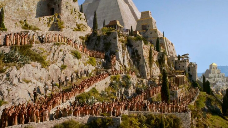 una de las escenas de la serie Game Of Thrones