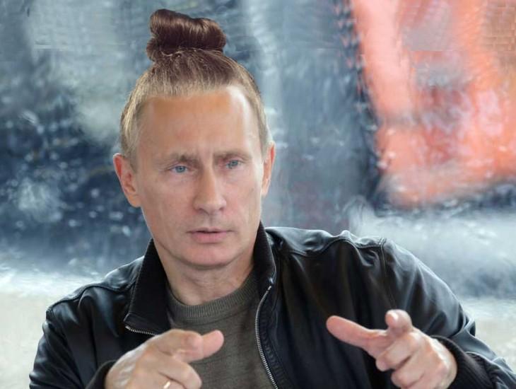 Vladimir Putin con chongo alto