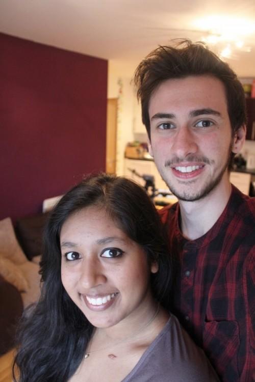 raines y su novia shabba felices en una selfie