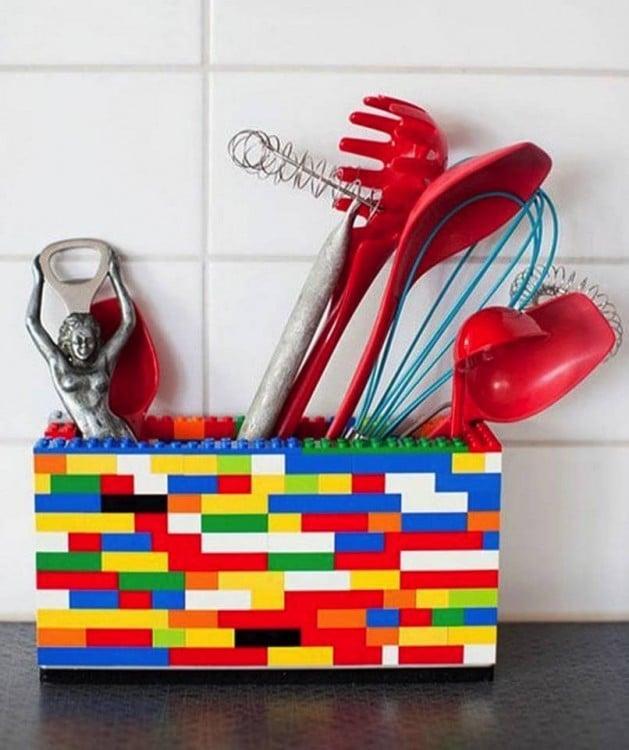 Recipiente para poner los utensilios de cocina