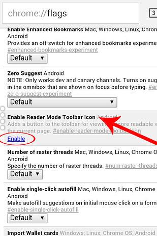 como desbloquear el modo lector de google