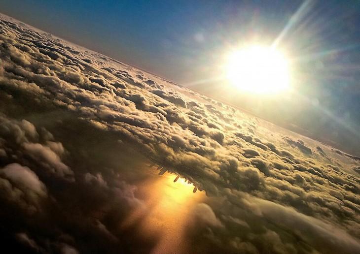 lago de michigan cvisto desde un avión