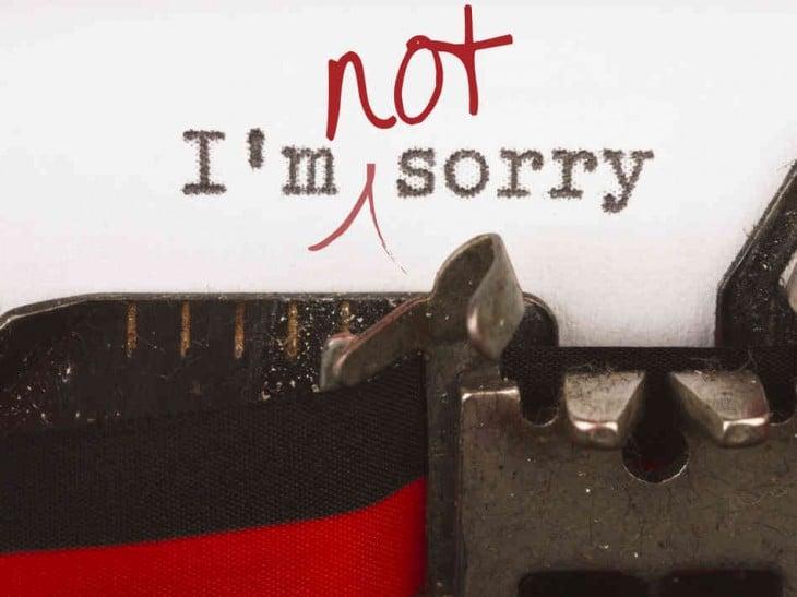 No debes pedir una disculpa si no la sientes
