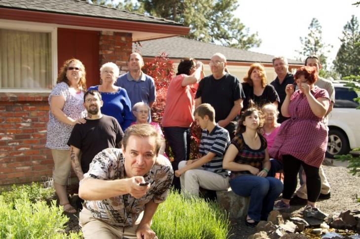 FAMILIA tomando la foto programada