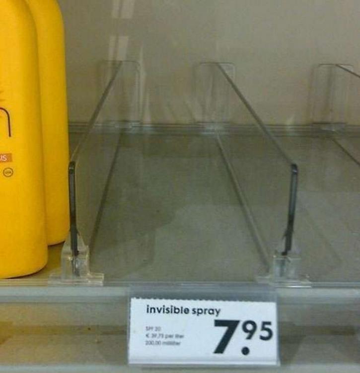 se vende spray invisible a 7.95 por botella