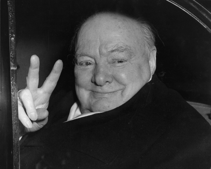 Winston Churchill retrato