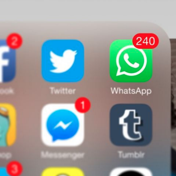 muchjos mensajes de whatsapp sin leer