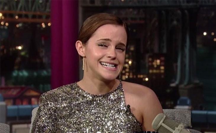 Emma Watson haciendo caras graciosas