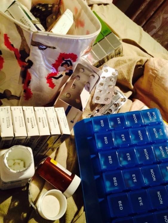 paquetes de medicamenteos vacios