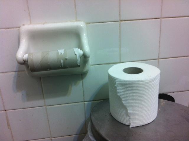 rollo de papel vacio