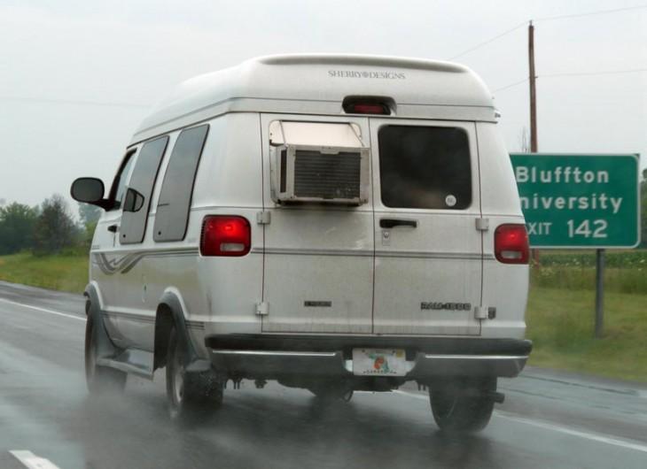 aire acondiciopnado de casa en una camionera