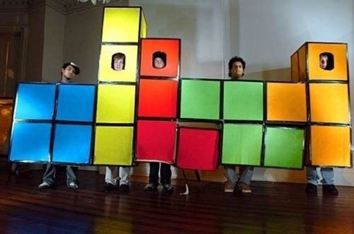 disfraz de tetris en grupal