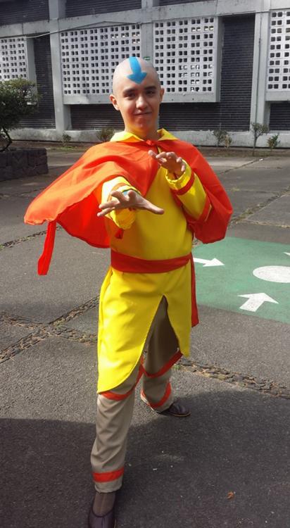 disfraz de la leyenda de Aang