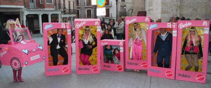 disfraces de barbie en cajas