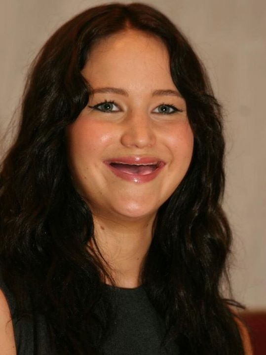 Jennifer Lawrence sin dientes