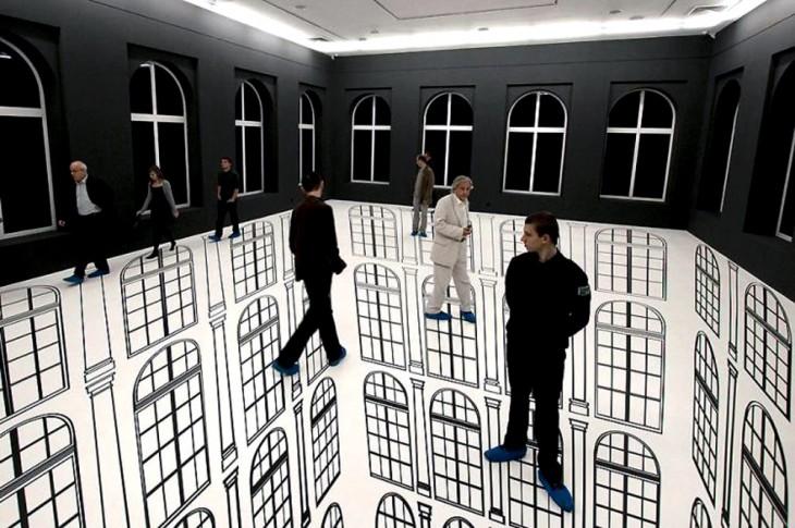 edificios pintados con ilusionees opticas