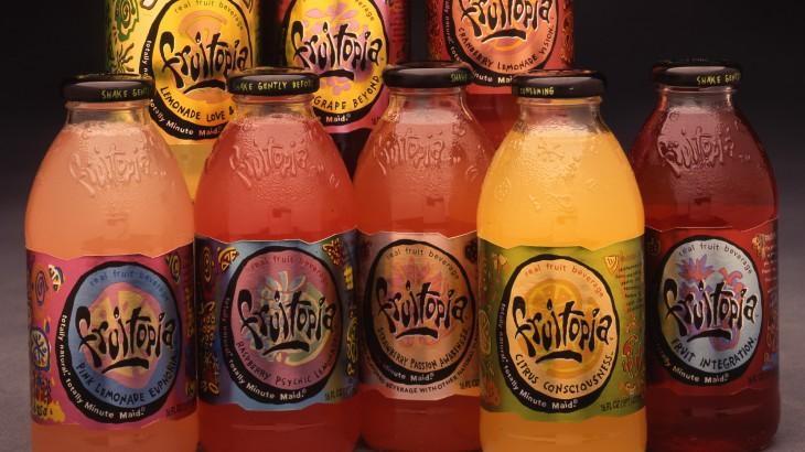 diferentes sabores de la bebido fruitopia