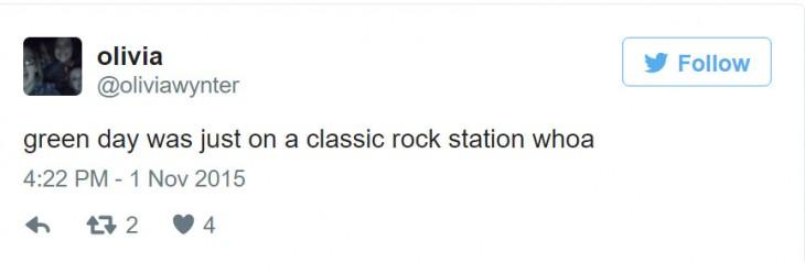 green Day lo consideran rock clasico