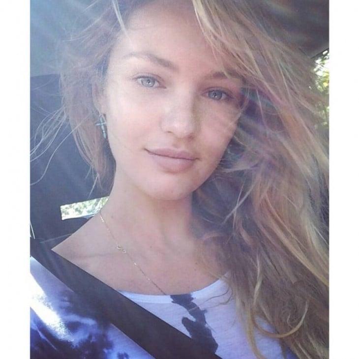 Candice Swanepoel sin maquillaje