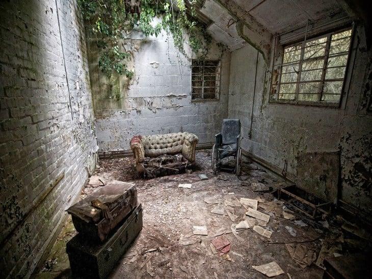 Casa abandonada en un lugar
