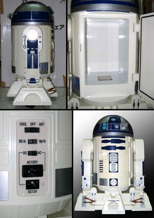 mini refrigerador en forma del robot R2D2