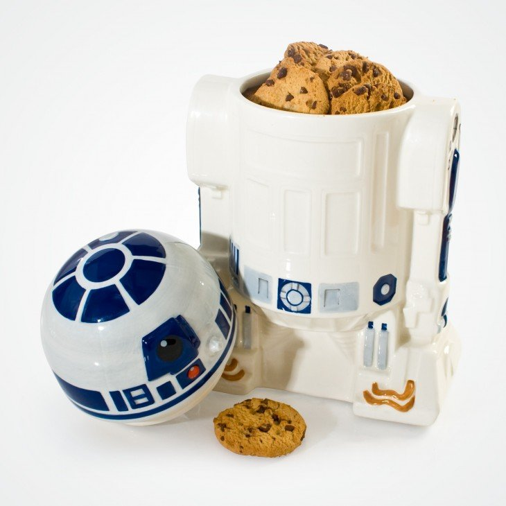Recipiente en forma de R2D2 con galletas