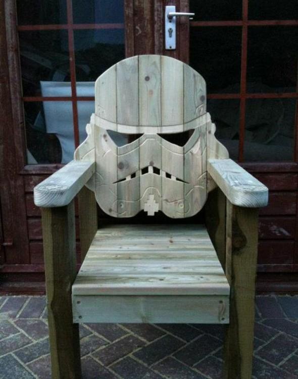 Silla en forma de Stormtrooper