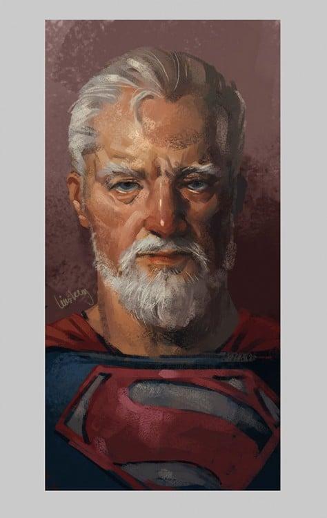 imagen de superman en su vejez