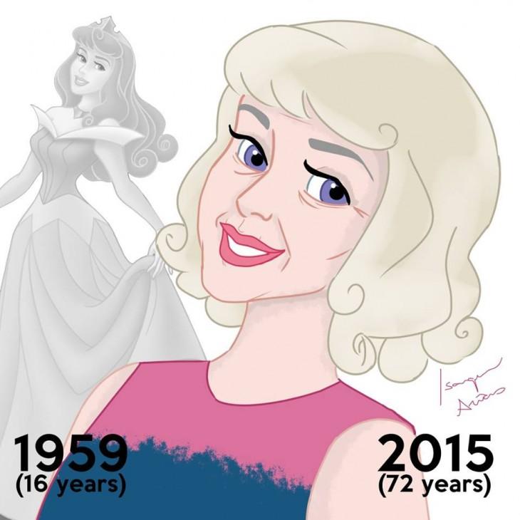 aurora la bella durmiente en el 2015 a sus 72 años