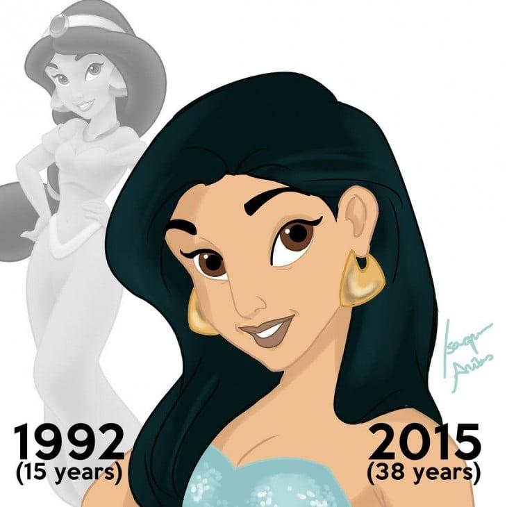 Princesa Jasmine de aladdin en el 2015 a sus 38 años