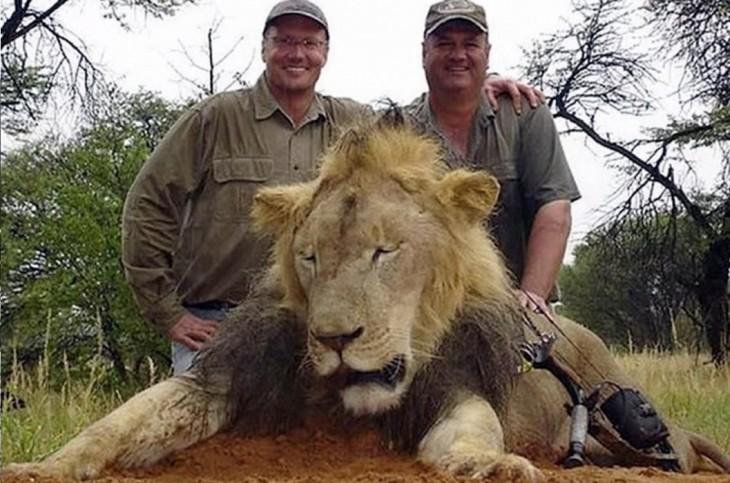 foto de los cazadores que mataron al león cecil