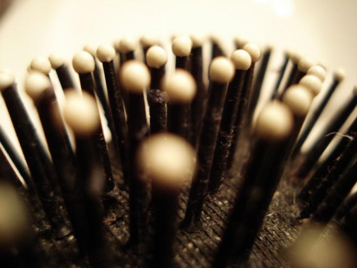 cerdas de un cepillo de cabello