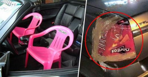 Hilarantes reparaciones de autos