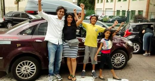 Una familia aventurera que hace un épico viaje juntos