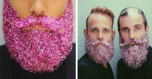 La nueva tendencia es traer brillos en la barba