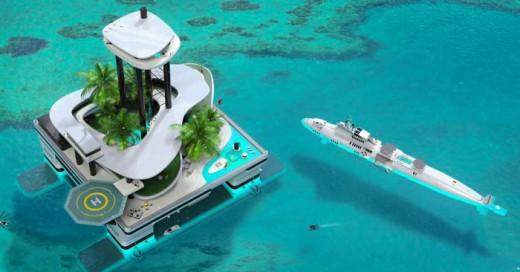 Migaloo Private Submarines lanzan su proyecto de una isla flotante
