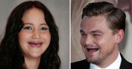 Experimento de edición de imágenes de famosos sin dientes
