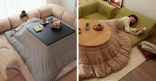 El Kotatsu es un sillón que existe desde el siglo XIV que ahora es reinventado