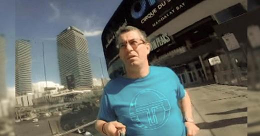 A este Padre le prestan una Go-pro para su viaje el resultado es genial