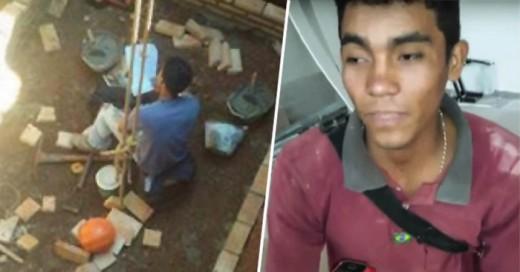 Roberto Ríos, Joven Paraguayo que trabaja en la construccion estudia mientras trabaja un gran ejemplo de alcanzar los sueños en esta vida