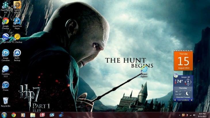 tela onde você vê Senhor Vord demort bicando ícone do Internet Explorer