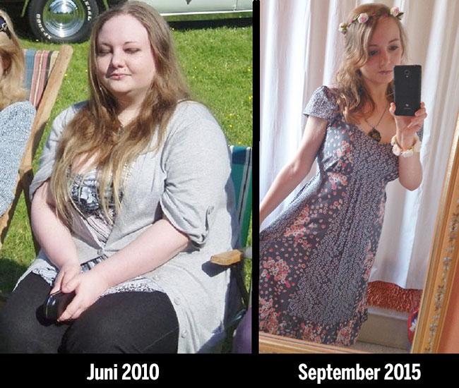 mujer perdió más de la mitad de su peso y a la fecha se a mantenido delgada