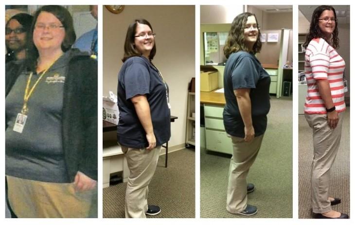 ella perdio 119 libras en 19 meses