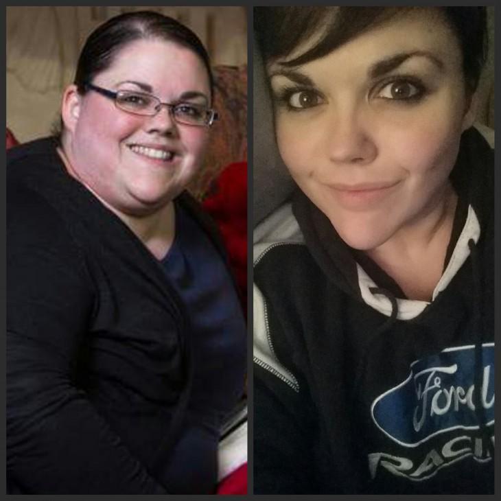 Ella bajo 110 libras en 19 meses