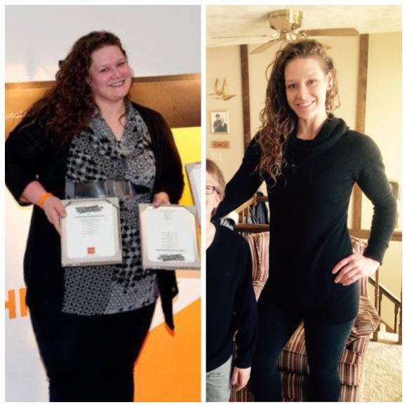 Ella bajo 185 libras en 17 meses