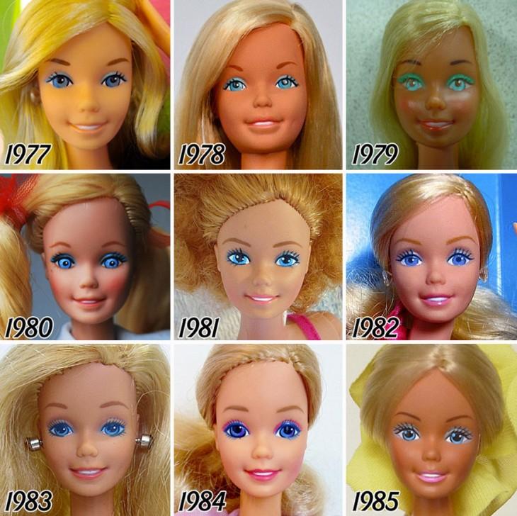 Evolución de la vbarbie a partir de 1978