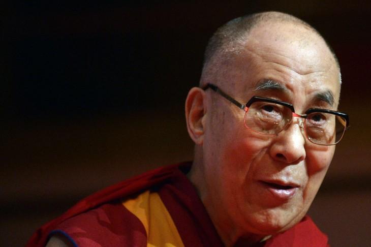 Cara del líder religioso Dalai Lama